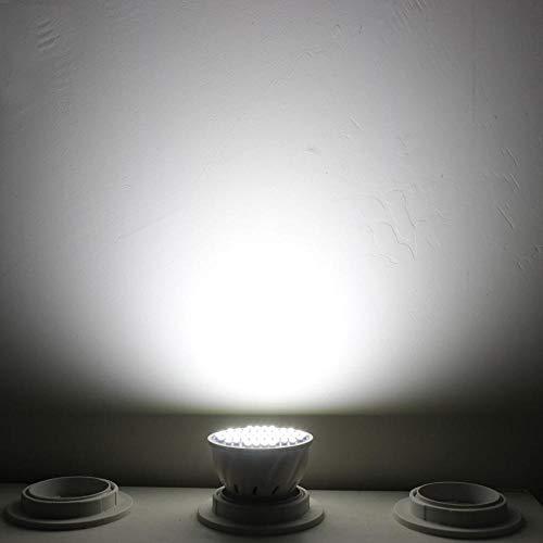 RZL LED Lights Bombilla Led Spot 5pcs E27 E14 GU10 MR16 3W AC DC 12 V 24 voltios Spotlight no Regulables 12v Abajo se Enciende la lámpara de Interior casero (Color : Blanco, Talla : GU10)