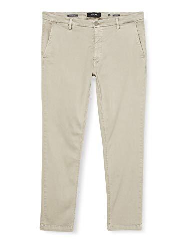 REPLAY ZEUMAR Jeans, Grigio (326 Clay Grey), 31 W/32 L Uomo