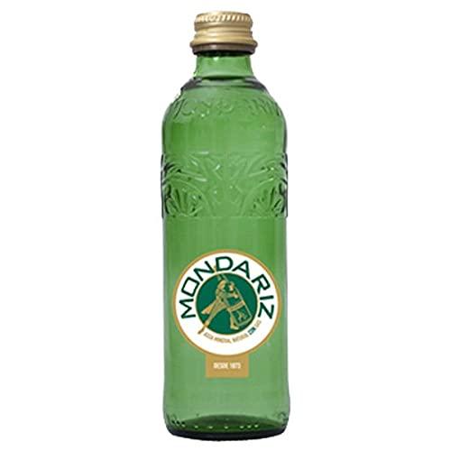Agua Mineral Natural Con Gas Mondariz - Botella de 33 cl - Formato Cristal