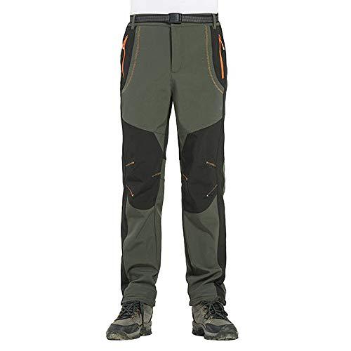 Pantalones de Trekking Impermeables Softshell Hombre Invierno Mujer Pantalones de Montaa Transpirable Fleece Lined Pantalon Escalada Senderismo Aire Libre Pantalon