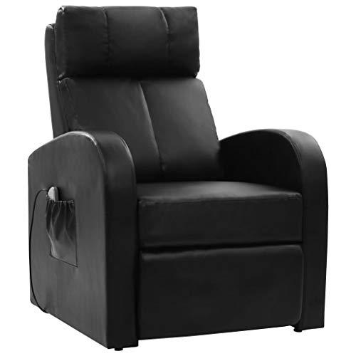 vidaXL Massagesessel Elektrisch Schwarz Relaxsessel TV Sessel Fernbedienung