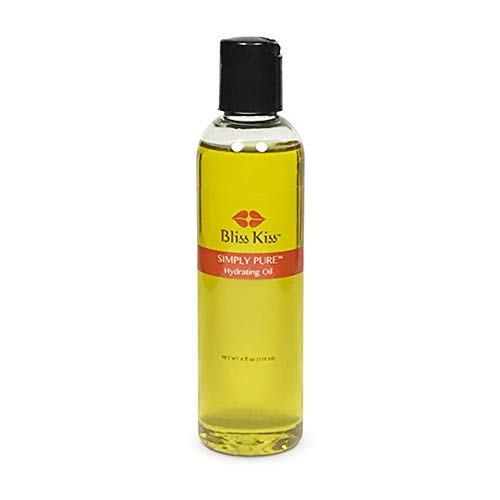 Bliss Kiss Simply Pure Hydrating Oil - 4 oz Bottle - Fragrance Free - Nails, Cuticles, Skin and Hair - Best Value