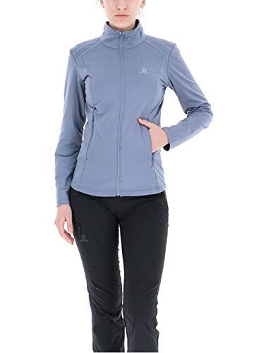 Salomon, Polaire pour Femme, DISCOVERY LT FZ, Polyester/Elasthanne, Bleu gris (Flint Stone), Taille : XL, LC1077500