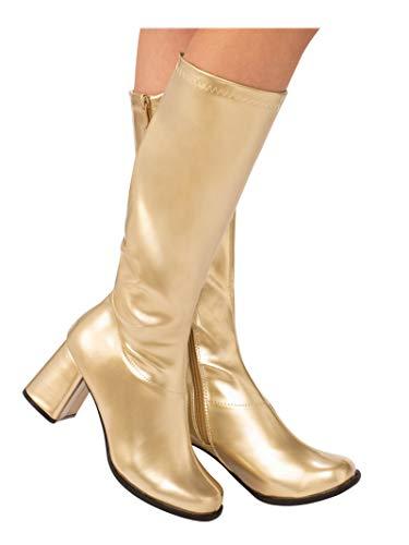 Women's Gold Costume GoGo Boots