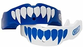 Battle Fangs Football Mouthguard – Sports Mouth Guard with Removable Strap – Protector Mouthpiece Fits With or Without Bra...