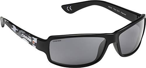 Cressi Ninja Gafas de Sol, Hombre, Gris Camou/Lentes Gris, Ultra Flex Talla única
