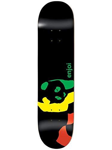 Enjoi Skateboard-Brett/Deck, Rasta Panda R7, 8.0