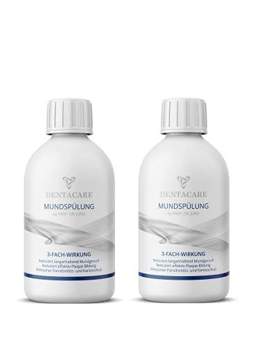 (2x 250ml) DENTACARE Mundspülung mit 3-fach Wirkung by PROF. DR. JUNG, reduziert langanhaltend Mundgeruch, reduziert effektiv Plaque-Bildung, effektiver Parodontitis- und Kariesschutz.