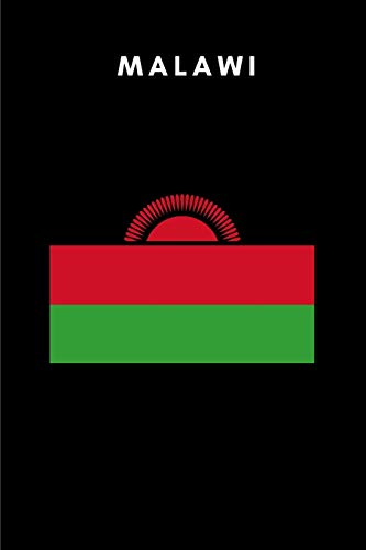 Malawi: Country Flag A5 Notebook to write in with 120 pages