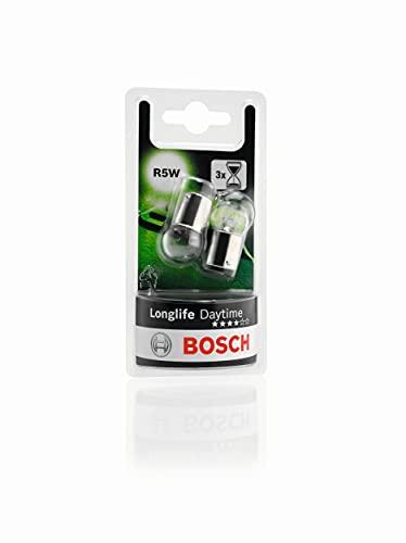 Bosch R5W Longlife Daytime Lámparas para vehículos - 12 V 5 W BA15s - Lámparas x2