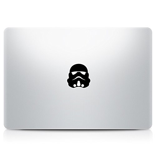 MACNIP Starwars Stormtrooper Vinyl Decal Sticker Skin for Apple Macbook Pro Air Retina Mac 11 13 15 inch (Black 1set)
