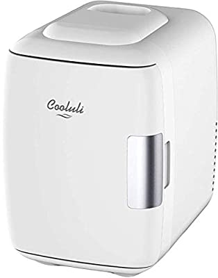 Cooluli Mini Fridge Electric Cooler and Warmer (4 Liter/6 Can): AC/DC Portable Thermoelectric System