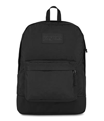 JanSport Mono Superbreak Backpack - Lightweight School Pack, Black