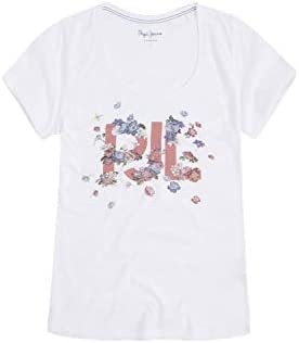 Pepe Jeans Camiseta de Manga Corta Doreen Blanco para Mujer