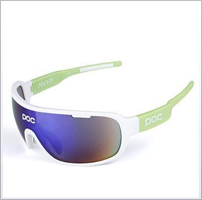 Gafas Polarizadas Deporte Bici Anti UV400 Gafas para Correr Running Antivaho con 5 Lentes Intercambiables Adaptadas También A Ciclismo Bicicleta De Montaña MTB Y Carrera para Hombre Y Mujer