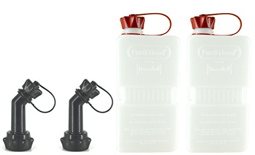 FuelFriend-Plus Clear - Bidón 1.5 litros + caño bloqueable - 2 Piezas a un Precio Especial
