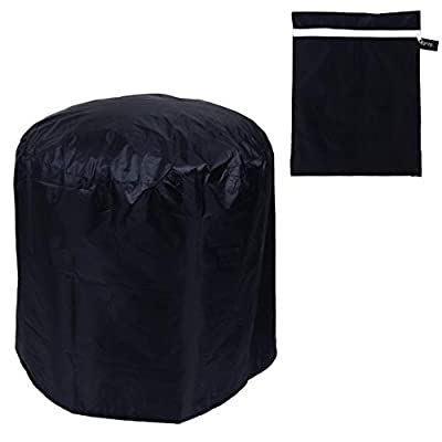 YARNOW Square Fire Pit Cover Heavy Duty Outdoor Firepit Cover Full Coverage Patio Outdoor Fireplace Cover Fire Bowl Cover Waterproof and Anti UV 70X70cm from YARNOW
