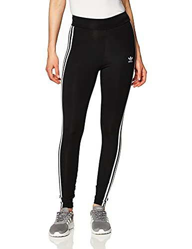 adidas 3 STR Tight, Leggings Donna, Black/White, 40