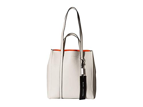 Marc Jacobs Women's The Tag Tote 27, Porcelain, White, Off White, One Size