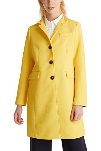 ESPRIT Damen 010EE1G302 Mantel, Gelb (Yellow 750), Small (Herstellergröße: S)