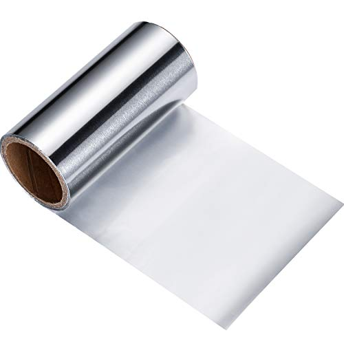 Hervorheben Folie Silber Haar Folie Aluminium Haar Folie Silber Haar Alufolie Folie Haar Folie Rolle Färbung Friseur Salon Werkzeug 10 m x 10 cm Silber