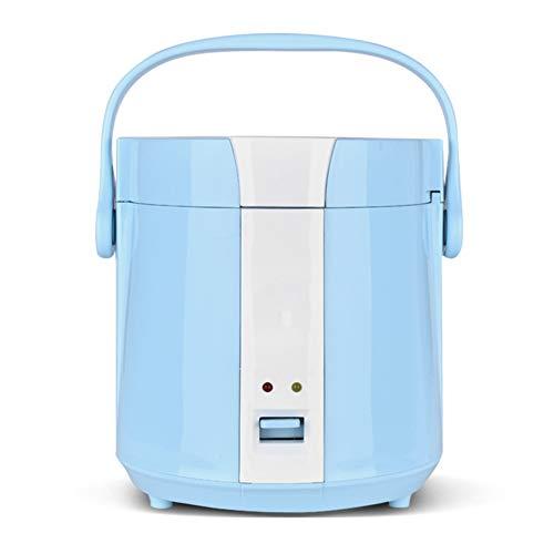 YIDPU Mini Reiskocher,antihaftpfanne Einfache EIN Knopf Bedienung Kompakter Körper, Geeignet Für 1-2 Personen Suppe Gedünsteter Reis Heißen Topf Kochen 1,2 L 200 W,Blau