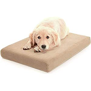 Milliard Premium Orthopedic Memory Foam Dog Bed with Removable Waterproof Washable Non-Slip Cover – Large – 40 in. x 35 in. x 4 in.