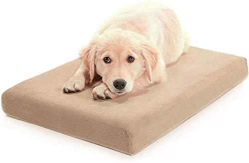 Milliard Premium Orthopedic Memory Foam Dog Bed with Removable Waterproof Washable Non-Slip Cover - Large - 40 in. x 35 in. x 4 in.