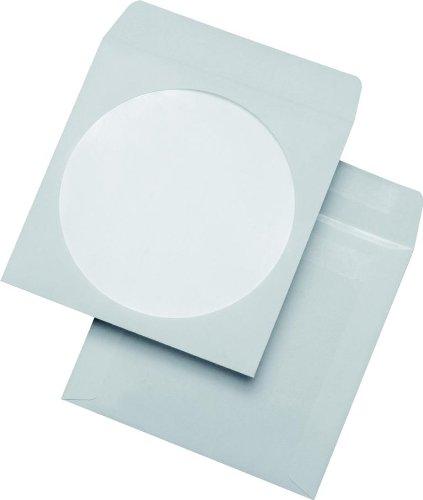 100 CD Hüllen DVD Papierhüllen Sichtfenster selbstklebend