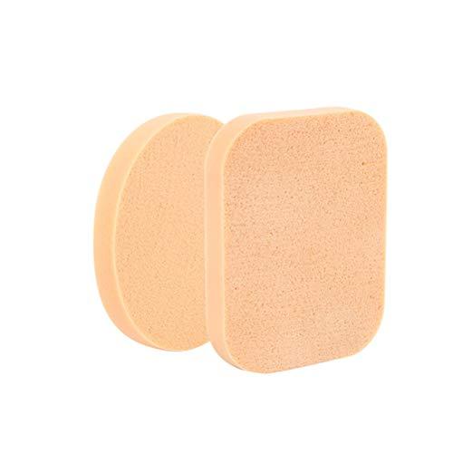 SUPVOX 2pcs maquillage poudre éponge nettoyage du visage éponge feuilletée doux visage outil de nettoyage pour les femmes