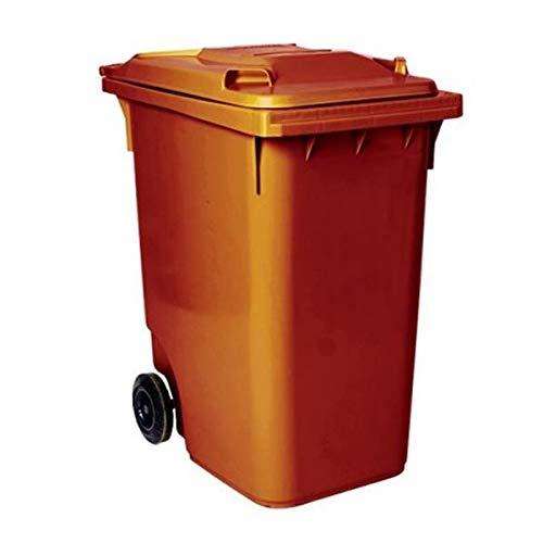 SSI Contenedor de Basura 360 litros Color marrón
