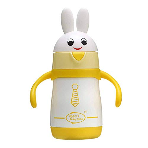 Lowest Prices! 210Ml Rabbit Insulated Bottle Baby Anti-Fall Bottle Wide Diameter Dustproof Insulated...