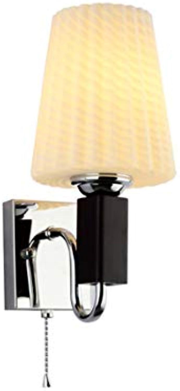 Xiao Yun    Fashion Einfaches Schlafzimmer Nachttischlampe Hintergrundwand Dekorative Beleuchtung E27 Nachttischlampe (Farbe  Single)