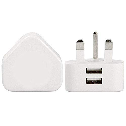 USB Wall Charger Quick Charge UK Plug, 3.0 Adapter 3-Pin USB Plug - Power Adapter - Charging For Mobile Phones,Apple, IPad Air iPod Samsung Galaxy HTC Android Huawei