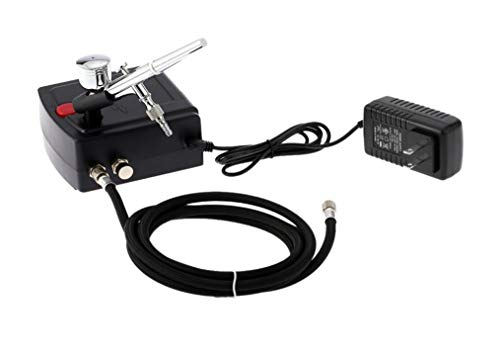 Fácil de montar Doble acción del aerógrafo arma de aerosol del compresor de aire kit del arte de la pintura tatuaje manicura Craft Cake spray de uñas Modelo cepillo de aire del sistema de herramienta