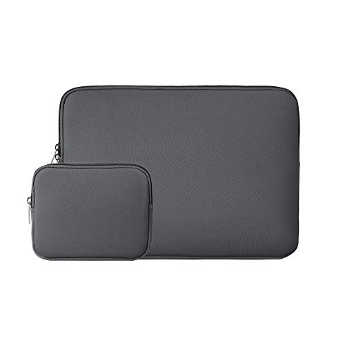 RAINYEAR 13 Inch Laptop Sleeve Protective Case Bag with Accessories Pouch, Specially Compatible with 2018 2019 New Model 13.3 MacBook Air/Pro/Retina/TouchBar A1932 A1706 A1708 A2159 A2179(Grey)