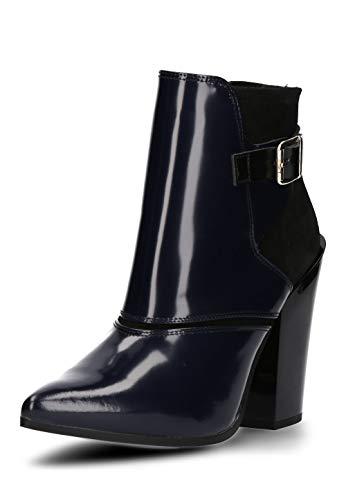 Buffalo London Damen Schuhe Stiefeletten hochwertiger Leder-Kombi