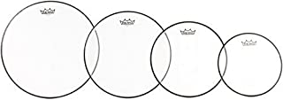 Remo Ambassador 4-Pc Tom Pack - 10 12 14 16 Inches - Clear