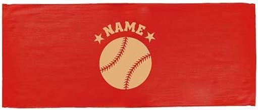 「野球ボール」名入れフェイスタオル、スポーツタオル、ベースボール、部活、ギフト、贈り物、お名前、名入れギフト、大会 景品 参加賞【FTC】退職祝い 退職プレゼント 甲子園