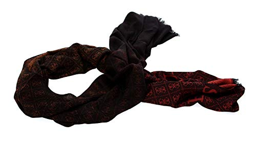 Guess Valy Jacquard Scarf Brown
