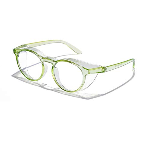 QCLU Gafas de Seguridad de Polen, Gafas Anti-Polen y Fiebre de heno, protección Anti-Niebla, protección Protectora, Gafas de Seguridad para Hombres para Mujer, Uso Personal (Color : Green)