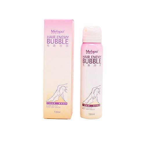 Gobutevphver Crema depilatoria Natural para Hombres y Mujeres Spray depilatorio Permanente indoloro Burbuja depilatoria para Bikini Suave - Blanco