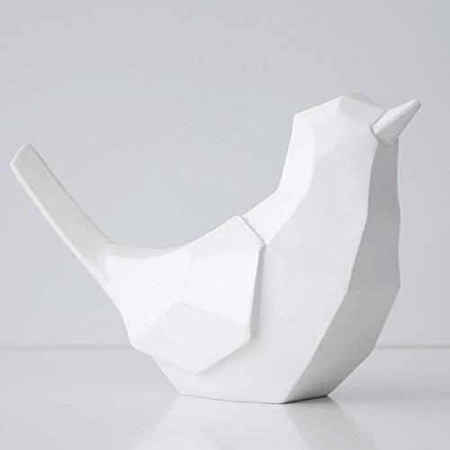 CLSMYLFB Hucha de resina geométrica de 19,5 x 7,5 x 12,5 cm, hucha de hucha de resina, para decoración del hogar, juguete para niños, hucha y pájaros