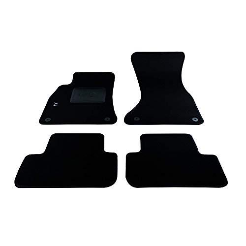 Bottari 39026 Set de 4 tapis de sol sur mesure en velours pour A4 2007 - 2015