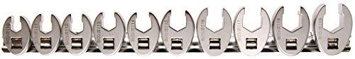 "BGS 1756 | Hahnenfußschlüssel-Satz | 10-tlg. | 10 mm (3/8"") | SW 10 - 19 mm | Krähenfuß"