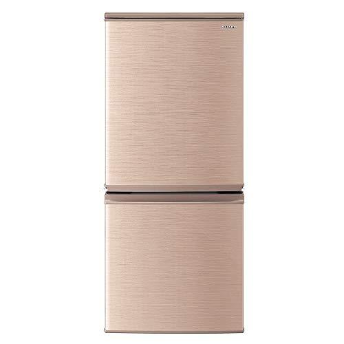 シャープ 冷蔵庫 幅48.0cm 137L つけかえどっちもドア 2ドア ブロンズ系 SJ-D14E-N