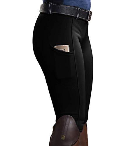 Onsoyours Mujer Pantalones Mallas Elásticas Montar A Caballo Pantalones Jodhpur Mallas Gimnasio Yoga Escuela Deportivos Ecuestres Pantalones A Negro M