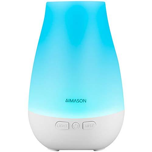180 ml, Diffusor für ätherisches Öl, BPA-frei, Ultraschall-Aroma-Diffusor, Luftbefeuchter mit einstellbarem Nebelmodus und automatischer Abschaltung für Zuhause, Büro, Schlafzimmer