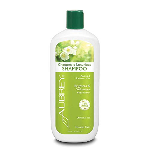 Aubrey Organics Chamomile Luxurious Shampoo - Volumizing Shampoo All Natural & Sulfate Free - 16oz
