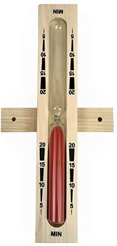 SudoreWell® Sauna Sanduhr 20 Minuten aus Holz mit rotem Sand
